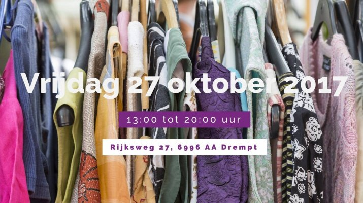 Dameskledingbeurs Drempt op 27 oktober 2017