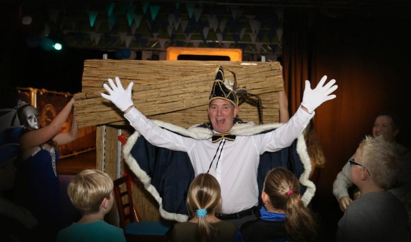 Erik Besselink als Prins Erik de Tweede de nieuwe Prins Carnaval van De Blauwe Snep Drempt