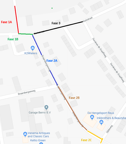 overzicht werkzaamheden Kerkstraat en Braambergseweg Voor-Drempt