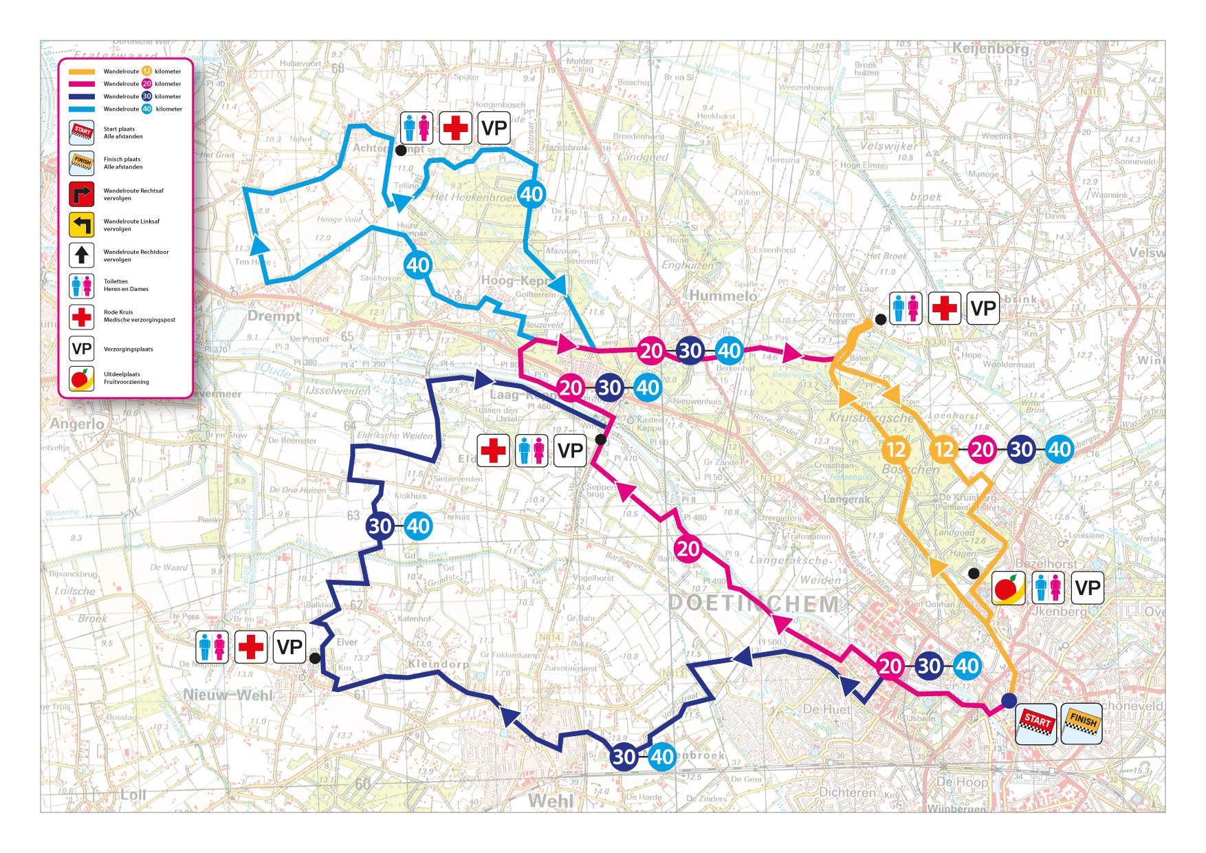 Route 4 Achterhoekse Wandel4daagse 2018