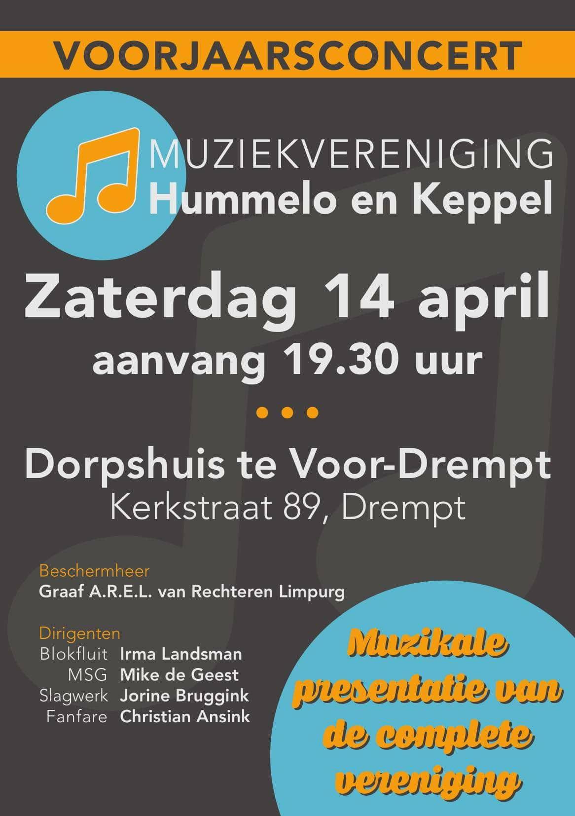 Voorjaarsconcert 2018 Muziekvereniging Hummelo en Keppel