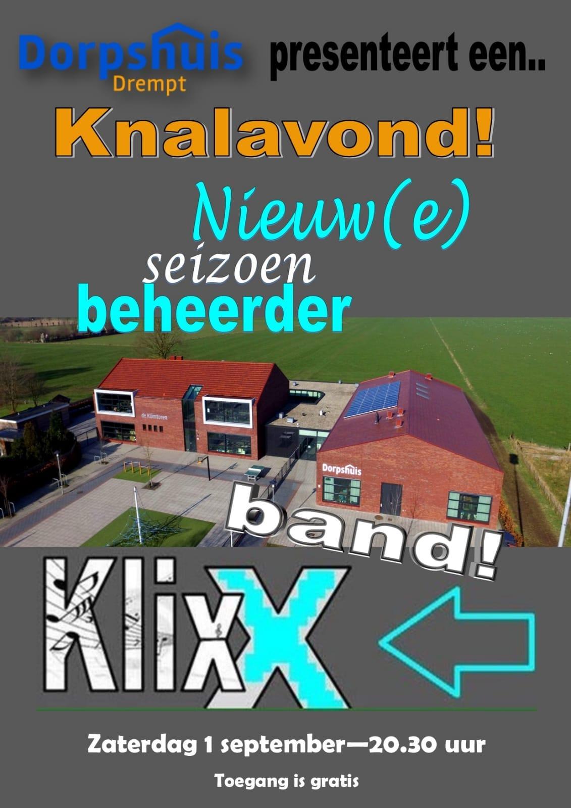 Knalavond in het Dorpshuis met KlixX Band