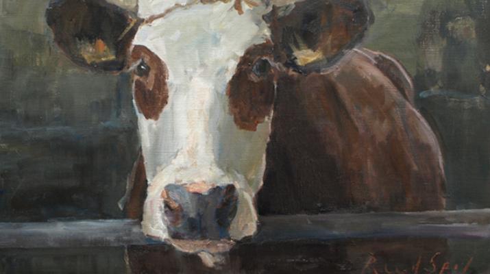 Schilderij 'Blaarkop' van Ruud Spil