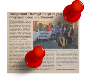 krantenartikel Contact - Dorpsraad Drempt help eigen dorpsgenoten via Present (week 46-2018)