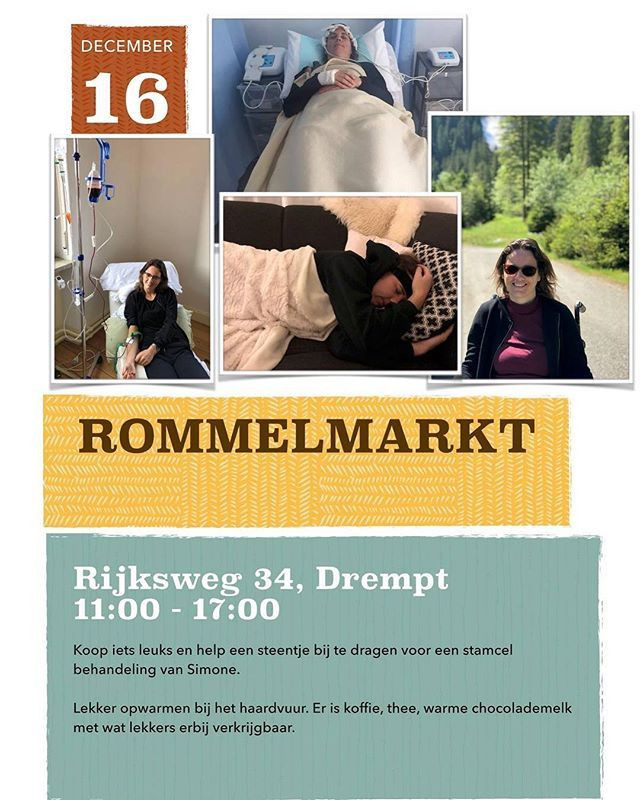 Rommelmarkt op 16 december 2018 in Drempt voor stamcel behandeling van Simone Bent.