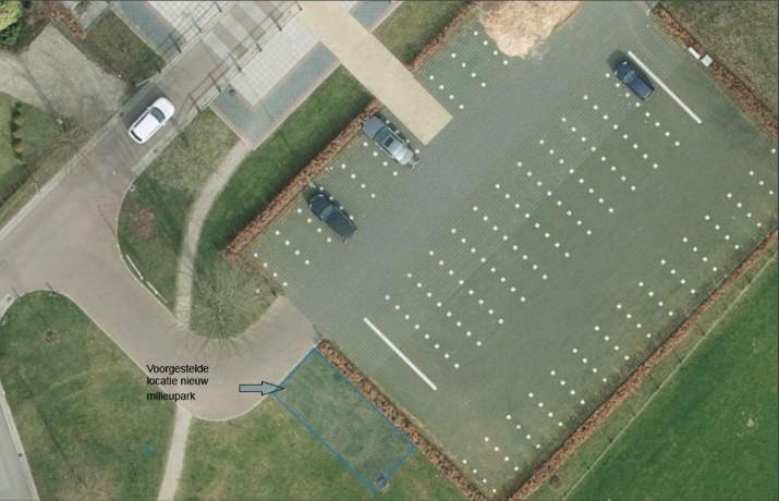 Voorgestelde locatie nieuw milieupark Voor-Drempt