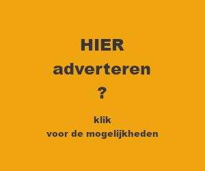 oranje-geel blok met de tekst HIER adverteren ? klik voor de mogelijkheden