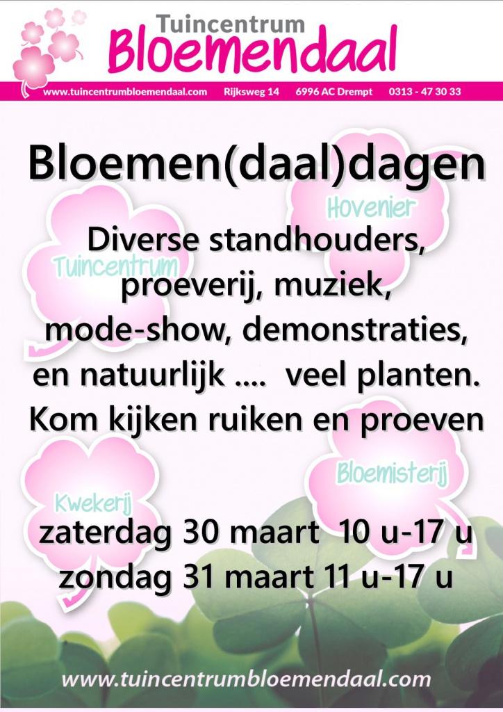 Flyer met aankondiging Bloemen(daal)dagen
