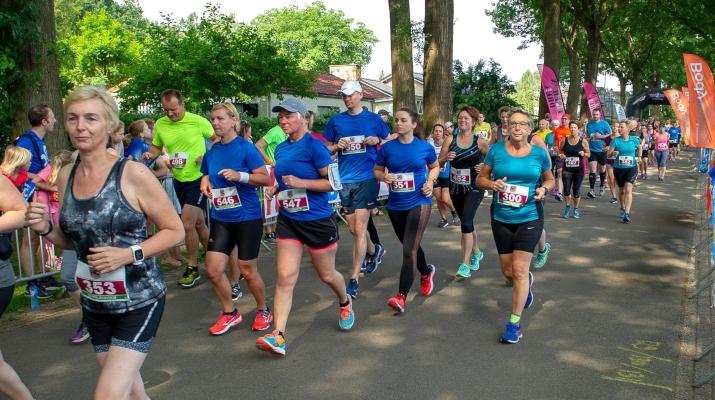 renners bij een hardloopevenement