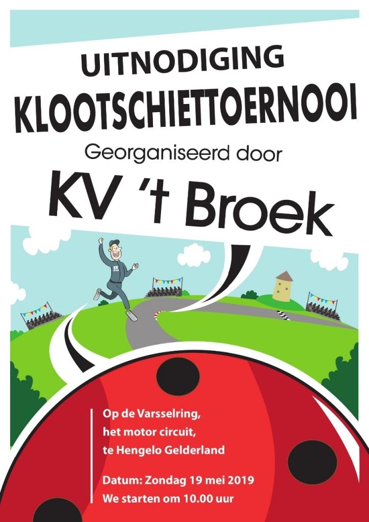 uitnodiging klootschiettoernooi KV 't Broek