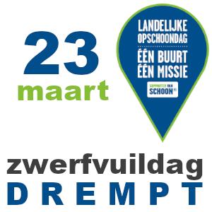 23 maart zwerfvuildag DREMPT tijdens landelijke opschoondag