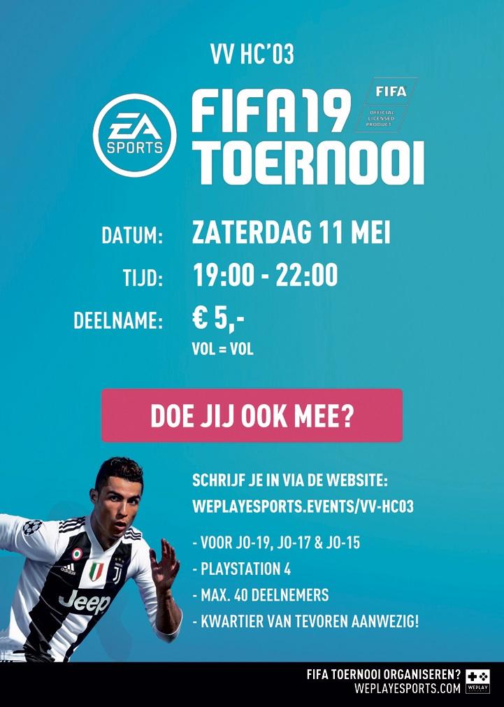 affiche FIFA19 toernooi