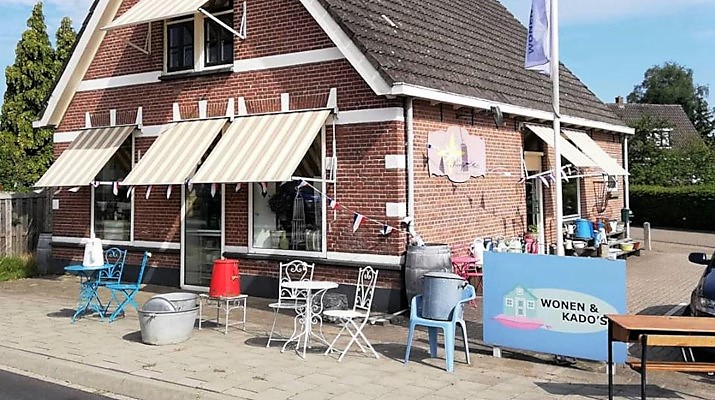 Het winkelpand van Keetje Knus aan de Rijksweg 15 in Drempt
