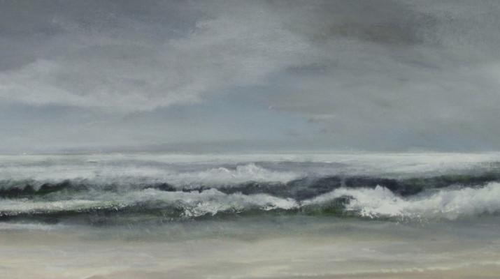schilderij met branding van de zee