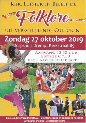 Folklore middag 27 oktober 2019 Dorpshuis Drempt