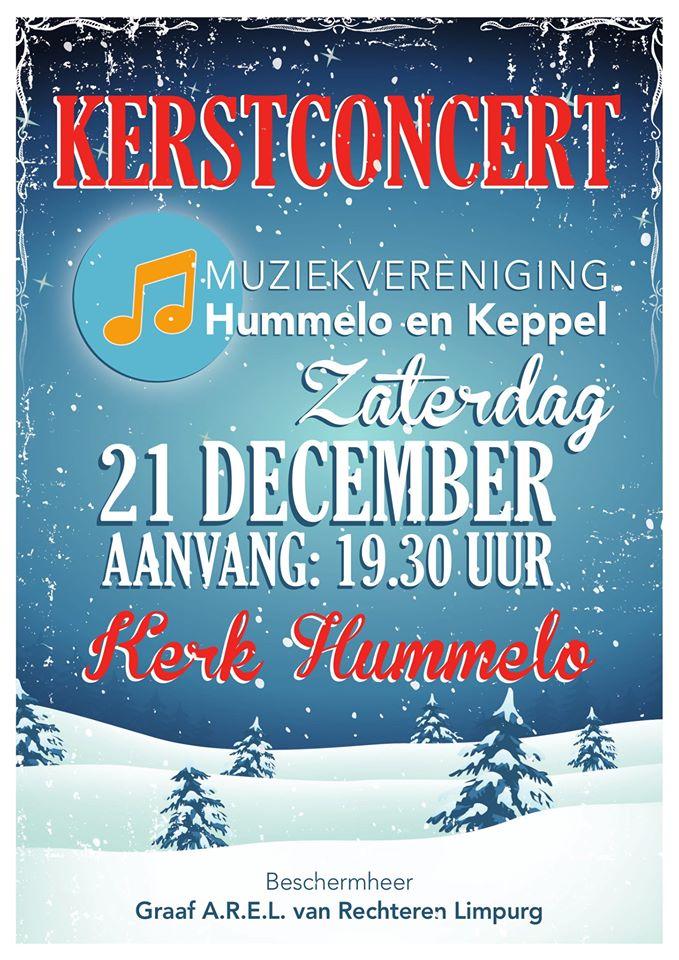flyer kerstconcert Muziekvereniging Hummelo en Keppel