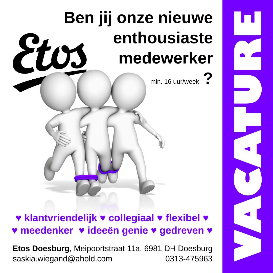 Vacature Etos Doesburg