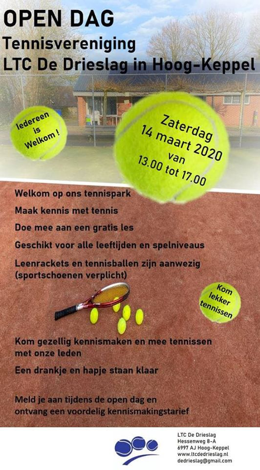 flyer open dag tennisvereniging