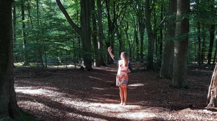 Jacqueline Wolvetang is één van de docenten van de workshop bosbaden