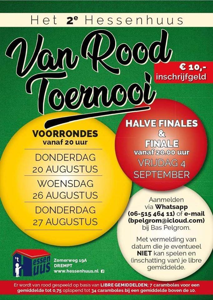 affiche Van Rood Toernooi