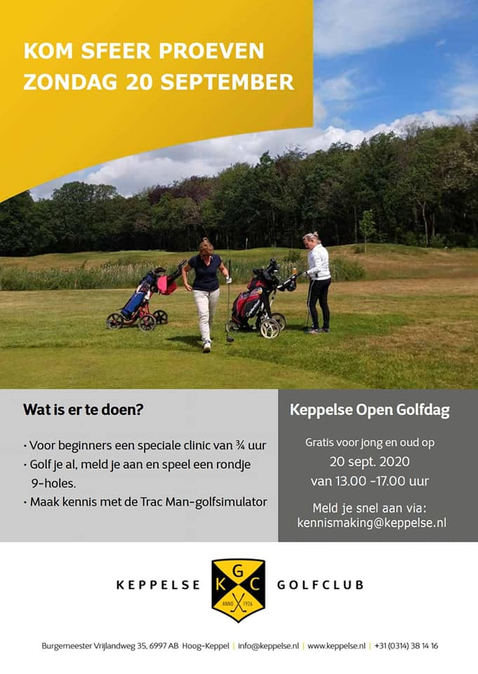 flyer Keppelse Open Golfdag