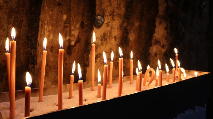 brandende kaarsen