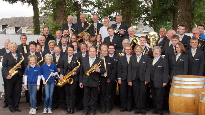 groepsfoto muziekkorps
