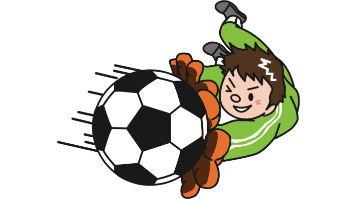 jonge keeper houdt voetbal tegen