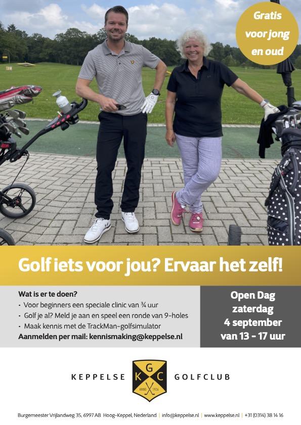 flyer open dag Keppelse Golfclub