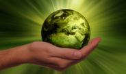 groene bol in hand