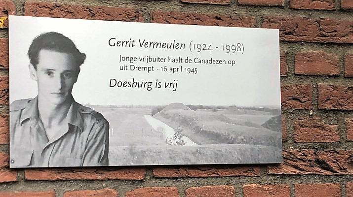 plaquette Gerrit Vermeulen